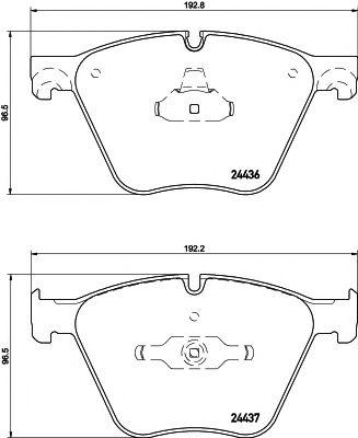 TEXTAR BMW Тормозные колодки передн.5 Gran Turismo,7 F01,X5 E70,F15,X6 E71,F16 09- TEXTAR 2443601