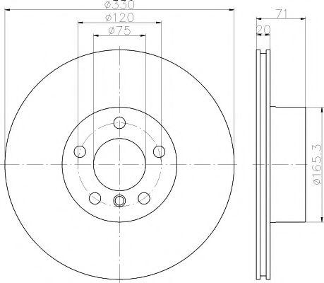 Тормозной диск TEXTAR 92256303