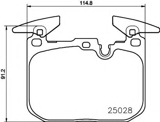 TEXTAR BMW Тормозные колодки 3 F30/F31, 4 F36/F32 TEXTAR 2502801