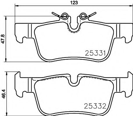 Комплект тормозных колодок  арт. 2533101