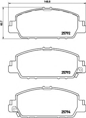 Комплект тормозных колодок  арт. 2579201