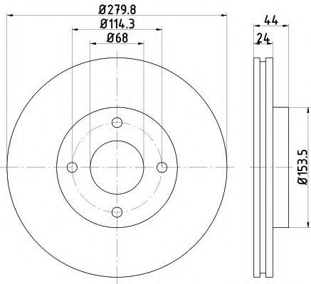 Тормозной диск  арт. 92269203