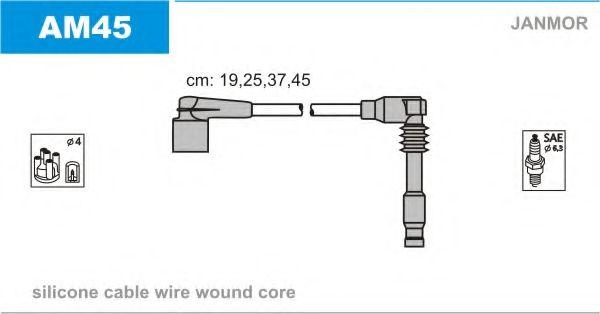 Провод зажигания (Silikon) CHEVROLET LACETTI 1.8, CAPTIVA 2.4 (пр-во Janmor)                         BOSCH арт. AM45
