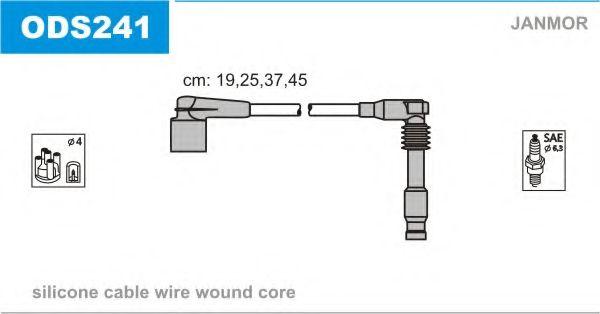Провод зажигания (Silikon) VECTRA B  1.8 i 16V (пр-во Janmor)                                        JANMOR арт. ODS241