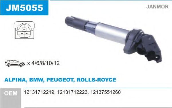 Котушка запалювання BMW E46/E60/E65 X3/X5/Z3/Z4 03- JANMOR JM5055