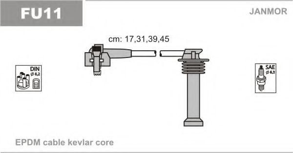 Провод зажигания (EPDM) FORD ESCORT 1.6,1.8; ORION,MONDEO,FIESTA (пр-во Janmor)                       арт. FU11