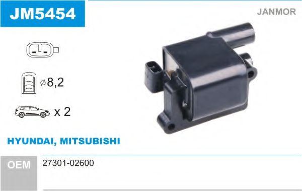 Катушка зажигания Mitsubishi LANCER 1.6, 2010.05; 4A92 (пр-во Janmor)                                 арт. JM5454