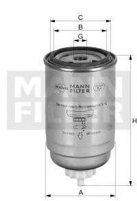 Фільтр палива MANNFILTER WDK7245