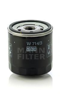 Фильтр масляный (пр-во MANN)                                                                          арт. W7143