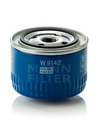 Фильтр масляный ВАЗ 2101-2107, 2108-09 (низкий 69мм) (пр-во MANN)                                     арт. W9142