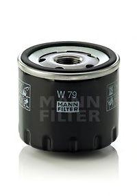 Фильтр масляный RENAULT DUSTER, LOGAN, SCENIC I, II, III 1.5 DCI 10- (пр-во MANN)                     арт. W79
