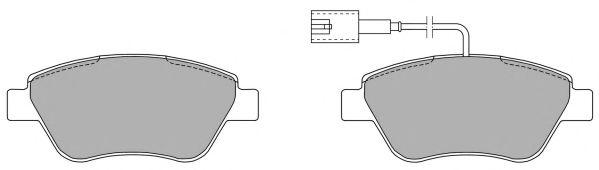 Колодки передние, 05-09 (грузовой) с датчиком  арт. FBP1218
