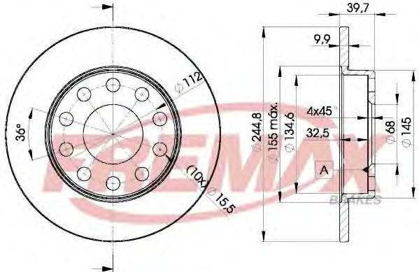 Тормозной диск MINTEX арт. BD3637