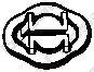 Резинка глушителя  арт. 255032