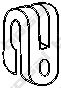 Резинка глушителя  арт. 255014