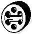 Резинка глушителя  арт. 255145