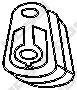 Резинка глушителя  арт. 255667