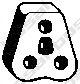 Резинка глушителя  арт. 255044