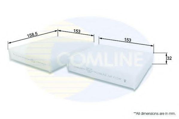 EKF101 Comline - Фільтр салону ( аналогWP9256/LA191/S )  арт. EKF101