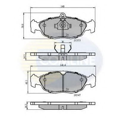 Комплект тормозных колодок, дисковый тормоз  арт. CBP0134