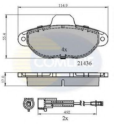 Комплект тормозных колодок, дисковый тормоз  арт. CBP2509