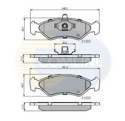 Комплект тормозных колодок, дисковый тормоз  арт. CBP0876