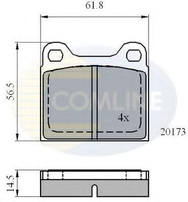 CBP0731 Comline - Гальмівні колодки до дисків COMLINE арт. CBP0731