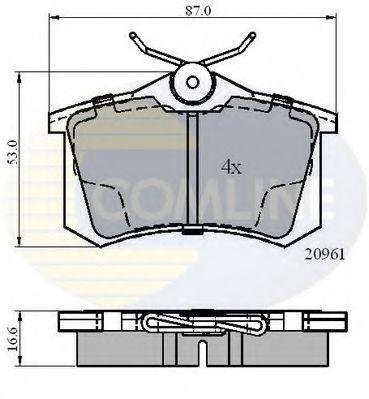Комплект тормозных колодок, дисковый тормоз  арт. CBP0797
