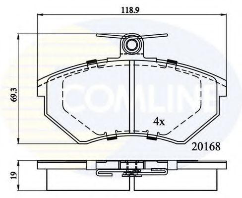 Комплект тормозных колодок, дисковый тормоз  арт. CBP0511