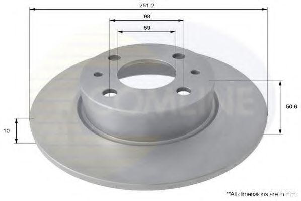 Тормозной диск  арт. ADC1809
