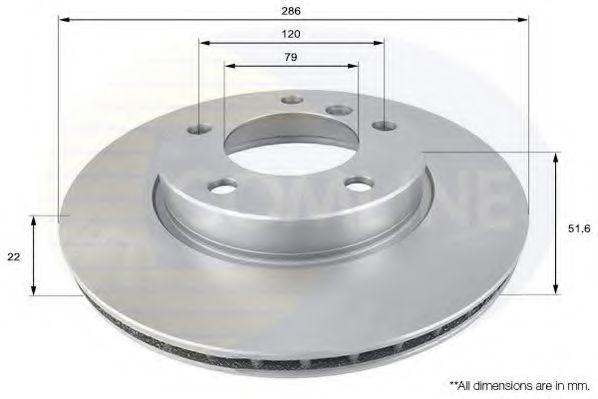 Тормозной диск  арт. ADC1702V