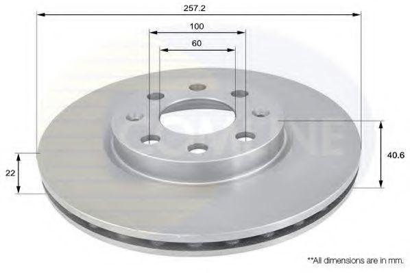 ADC1138V Comline - Диск гальмівний вентильований з покриттям ABE арт. ADC1138V