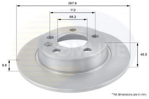 Тормозной диск  арт. ADC1429