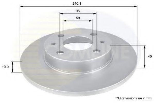 Тормозной диск  арт. ADC1801