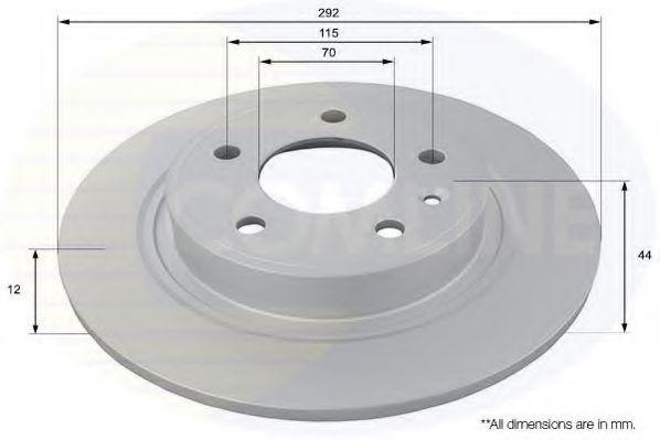 Тормозной диск  арт. ADC1154