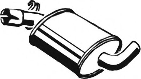 Глушитель средн. FEBI BILSTEIN арт. 03026