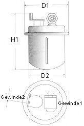 фільтр паливний  арт. L207606