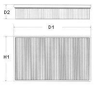 Воздушный фильтр  арт. U647606