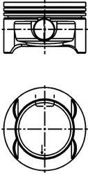 Поршень в комплекте на 1 цилиндр, 1-й ремонт (+0,25) KOLBENSCHMIDT арт. 40386610