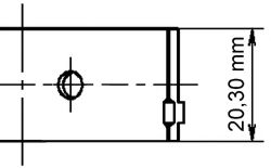 Вкладиші шатуннi Opel Ascona C/Omega B 94- (X20XEV/C20NE) KOLBENSCHMIDT 77268600
