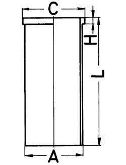 Гильза цилиндра Гильза цилиндра Opel 1.6D KOLBENSCHMIDT арт. 89161190