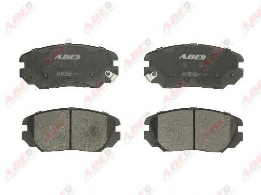Комплект тормозных колодок, дисковый тормоз  арт. C10517ABE