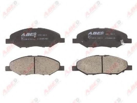Гальмівні колодки диск. передні Nissan Juke,Note,Tiida 1.4-1.8 06-  ABE C11080ABE