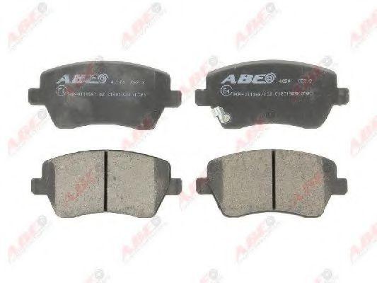 Гальмівні колодки перед. дискові Nissan Micra IV// Opel Agila// Suzuki Splash, Swift III 1.0I-1.6I 02.05- ABE C18019ABE