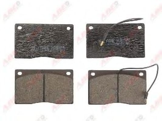 Комплект тормозных колодок, дисковый тормоз  арт. C1R005ABE