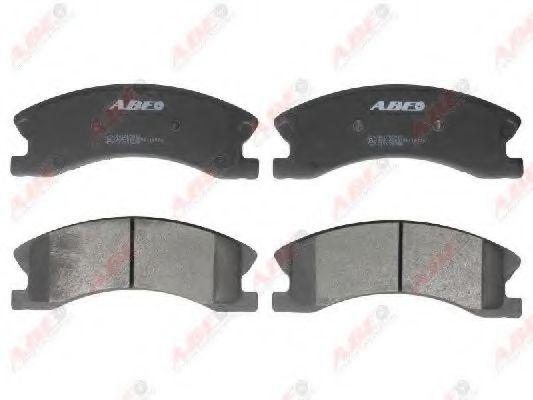 Комплект тормозных колодок, дисковый тормоз  арт. C1Y036ABE