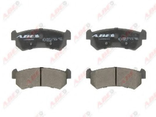 Гальмівні колодки дискові задні Daewoo Nubira/Chevrolet Lacetti 1.4 05- ABE C20006ABE