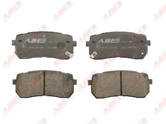 Комплект тормозных колодок, дисковый тормоз  арт. C20310ABE