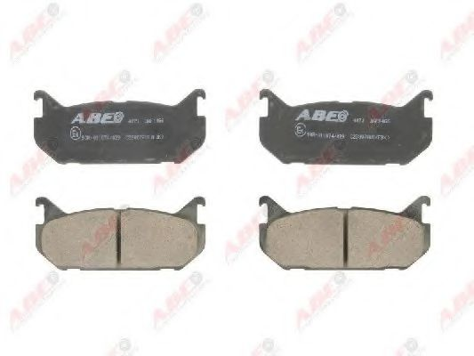 Гальмівні колодки дискові зад. Mazda 626 1.8-2.2/2.0D 92-97 ABE C23007ABE