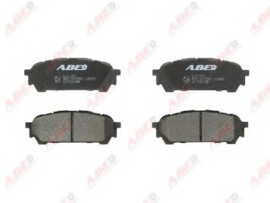 Гальмівні колодки дискові зад. Subaru Forester/Impreza 2.0-2.5 03- ABE C27003ABE